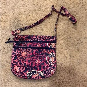 Vera Bradley Pink and Blue Floral Cross Body Bag